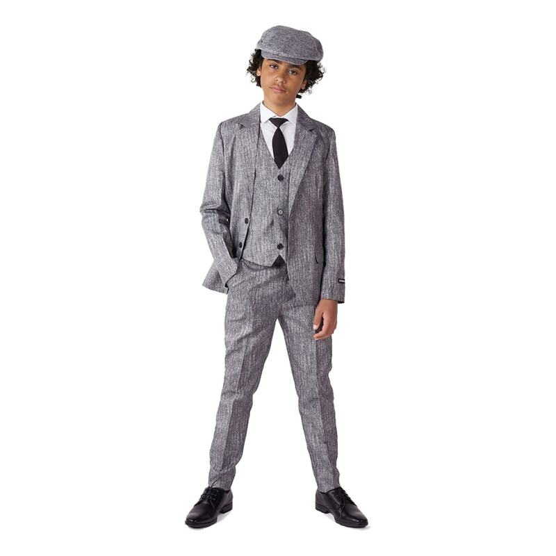 Suitmeister Boys 20-tals Grå Kostym - Medium