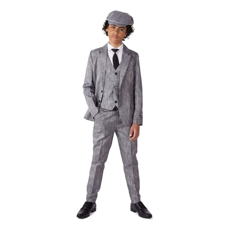 Suitmeister Boys 20-tals Grå Kostym - Large
