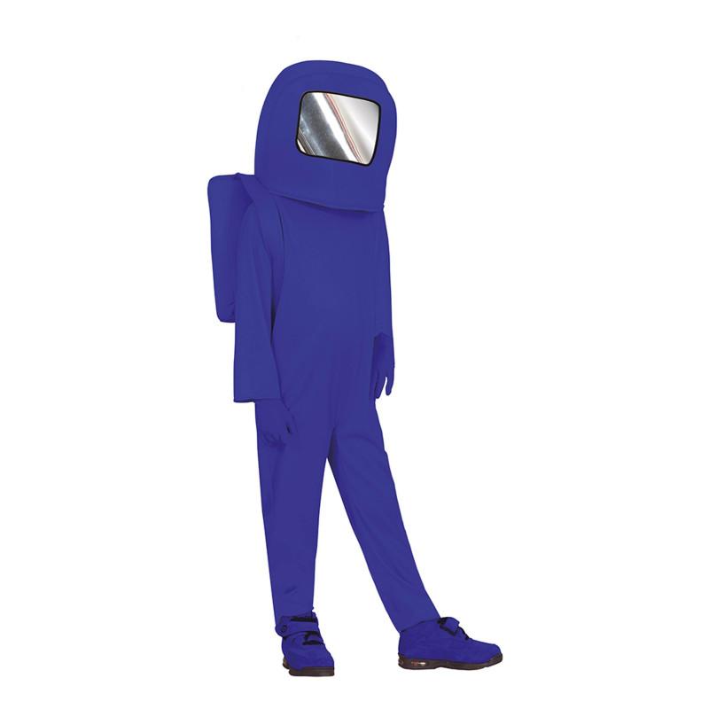 Blå Astronaut Barn Maskeraddräkt - 5-6 år