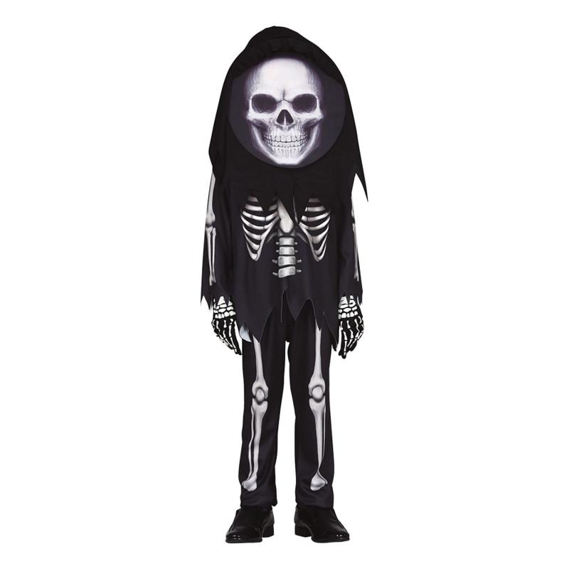 Skelett Barn Maskeraddräkt - Medium (7-9 år)
