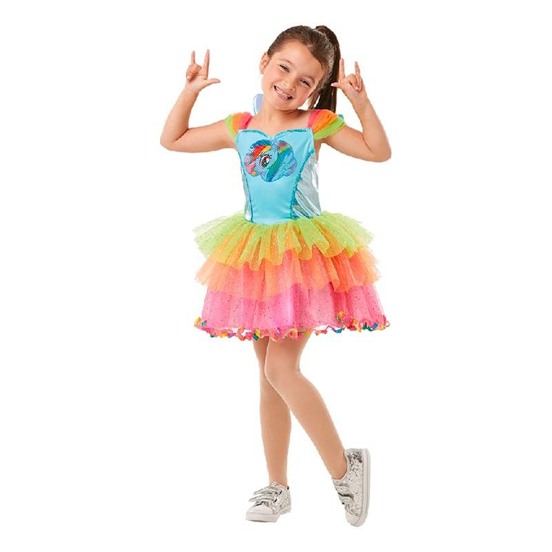 Rainbow Dash Klänning Barn Maskeraddräkt - Small