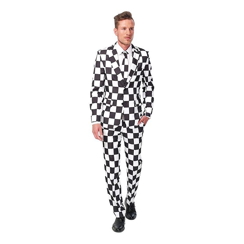 Suitmeister Schackrutig Kostym - Small