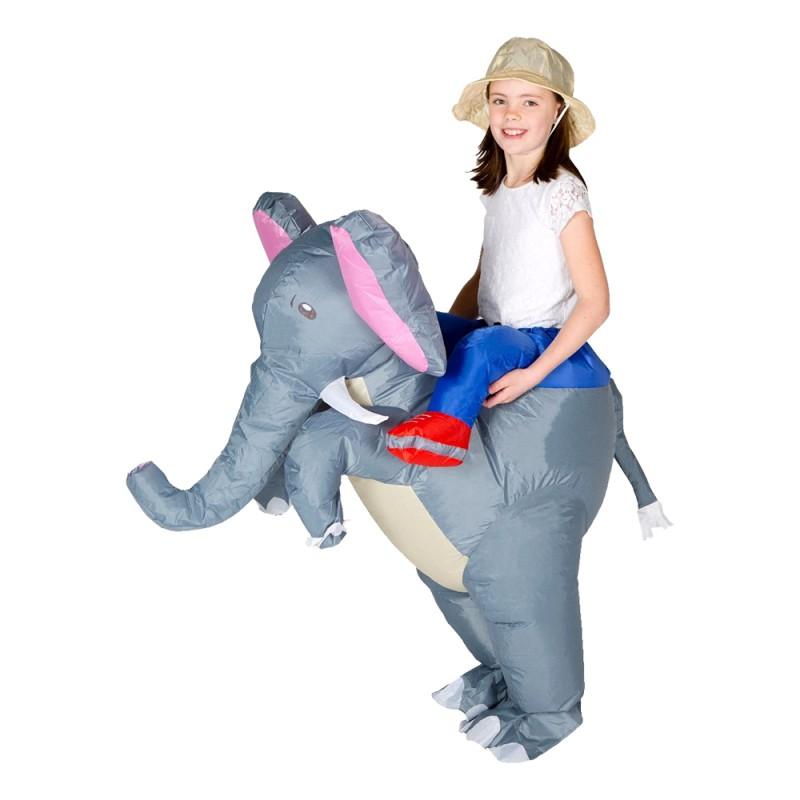 Uppblåsbar Elefant Barn Maskeraddräkt - One size