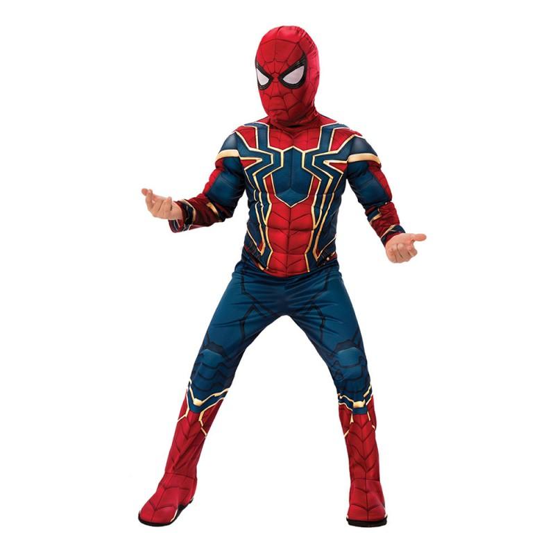 Spiderman Deluxe Infinity War Barn Maskeraddräkt - Small