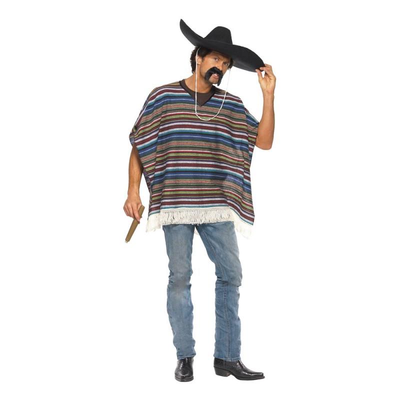 Autentisk Poncho Maskeraddräkt - One size