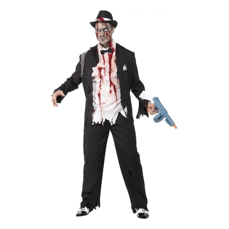 Zombie Gangster Maskeraddräkt - Medium