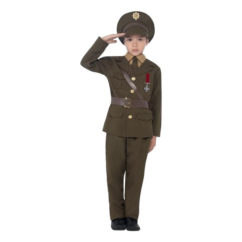 Armé Officer Barn Maskeraddräkt - Large