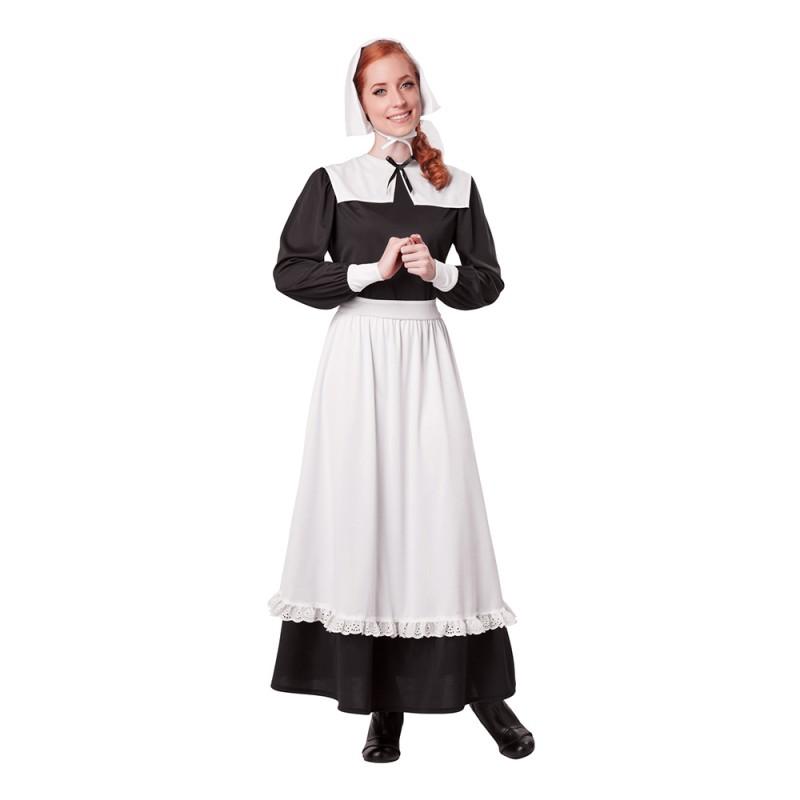 Traditionell Pilgrim Kvinna Maskeraddräkt - Small