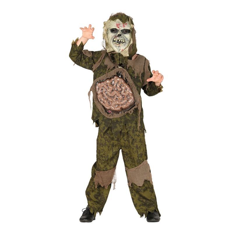 Zombie Kamouflage Barn Maskeraddräkt - Small