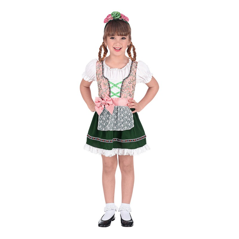 Oktoberfest Klänning Barn Maskeraddräkt - Small