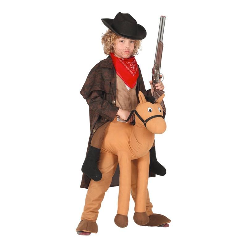 Ridande Häst Ljusbrun Barn Maskeraddräkt - One size
