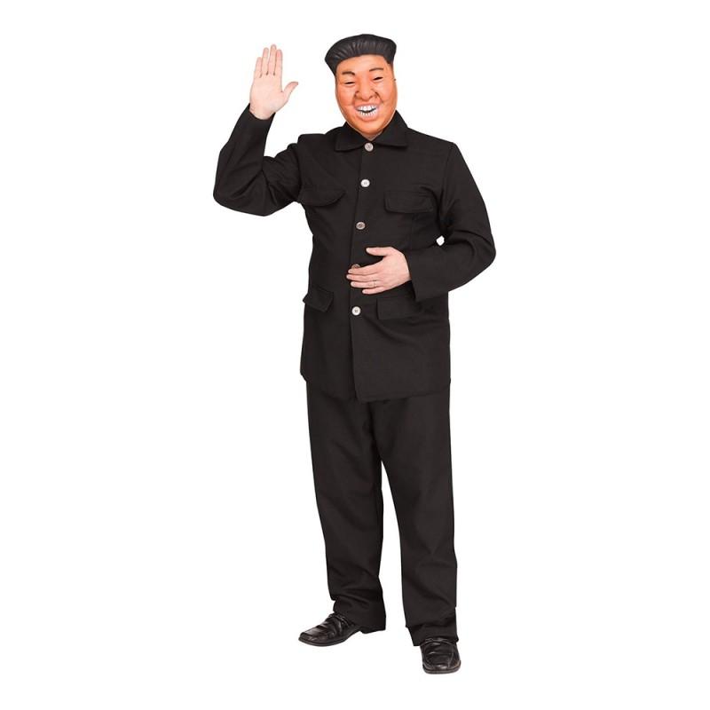 Diktator Svart Maskeraddräkt - X-Large