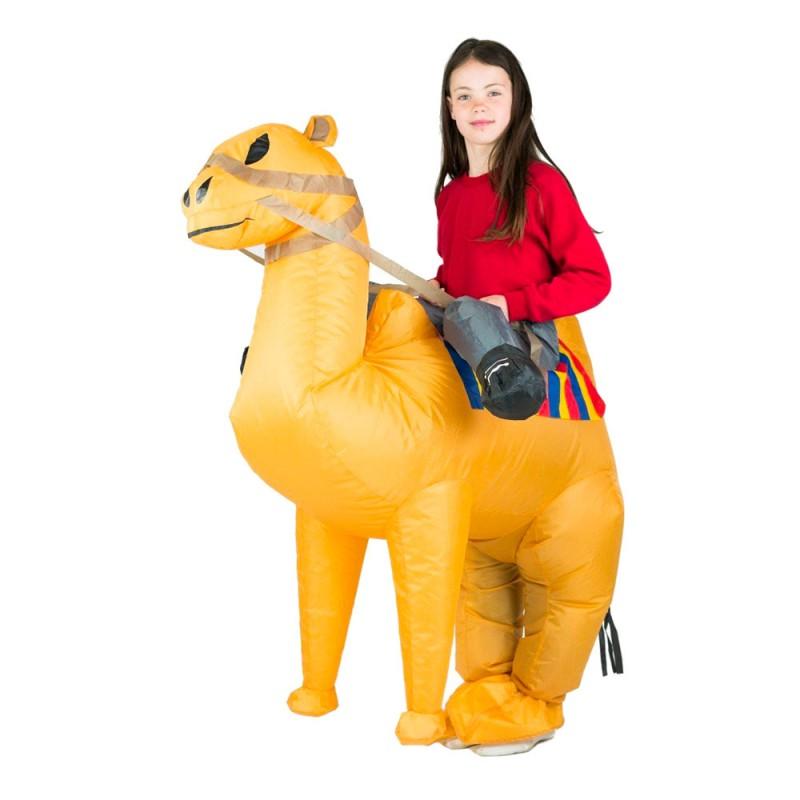 Uppblåsbar Ridande Kamel Barn Maskeraddräkt - One size