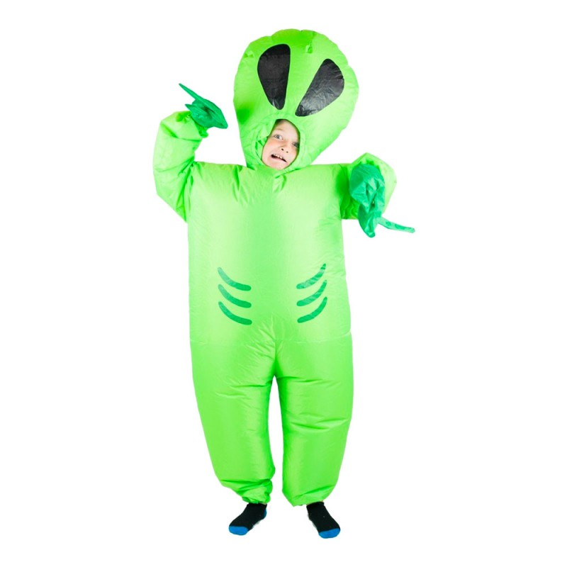 Uppblåsbar Alien Barn Maskeraddräkt - One size