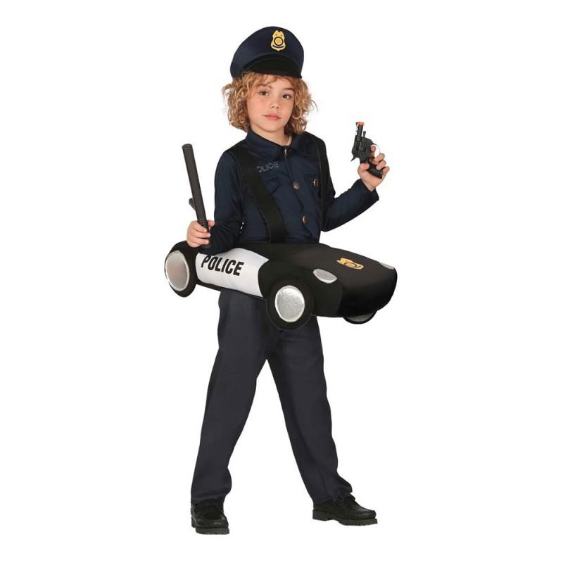 Polis med Bil Barn Maskeraddräkt - Medium