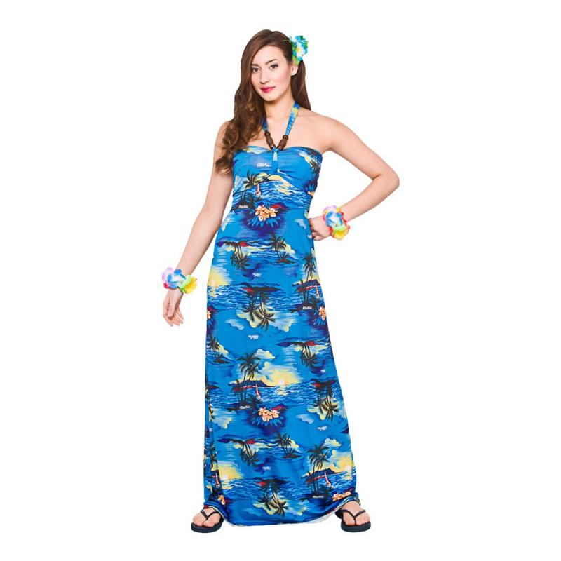 Hawaii Långklänning Maskeraddräkt - Small