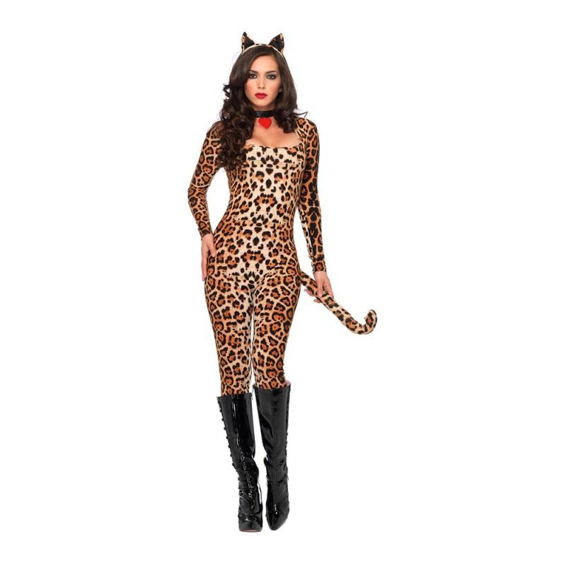 Leopard Catsuit Deluxe Maskeraddräkt - X-Small