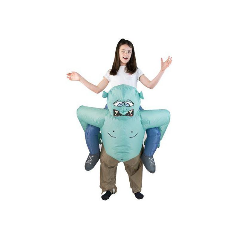 Uppblåsbar Bärande Troll Barn Maskeraddräkt - One size