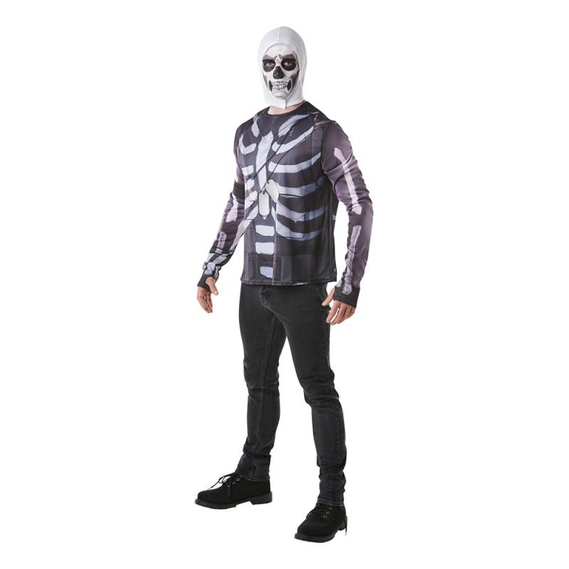 Fortnite Skull Trooper Budget Maskeraddräkt - Small