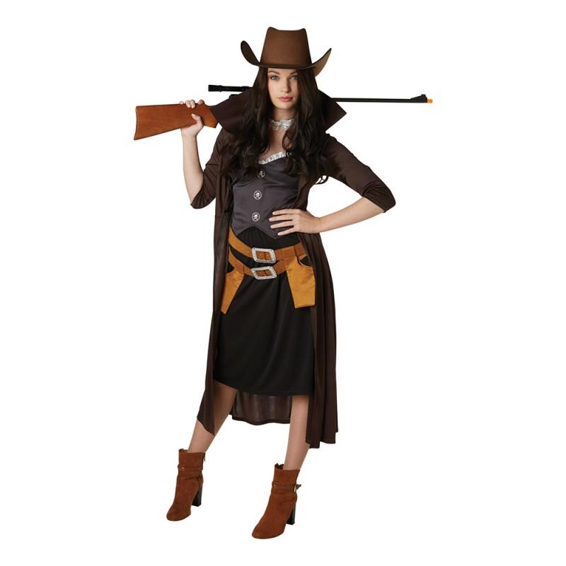 Revolverkvinna Maskeraddräkt - X-Small