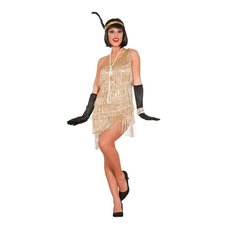 Gatsbyklänning Guld Maskeraddräkt - Small