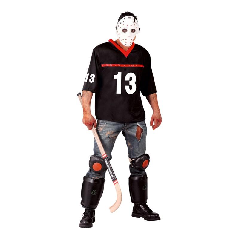 Hockeyspelare Halloween Maskeraddräkt - Medium