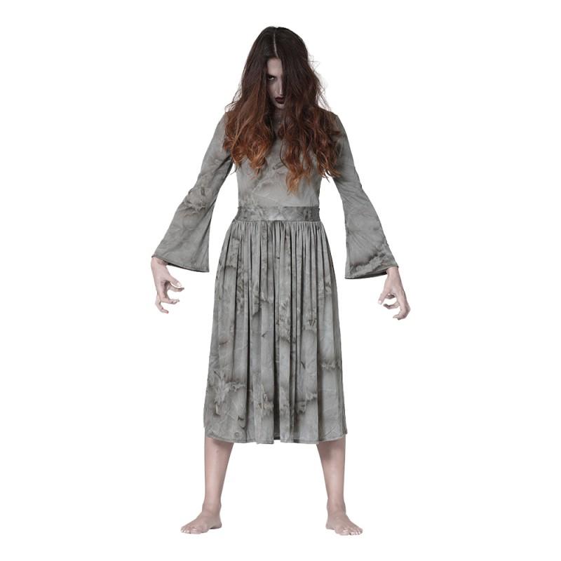 Läskig Spökkvinna Maskeraddräkt - Large
