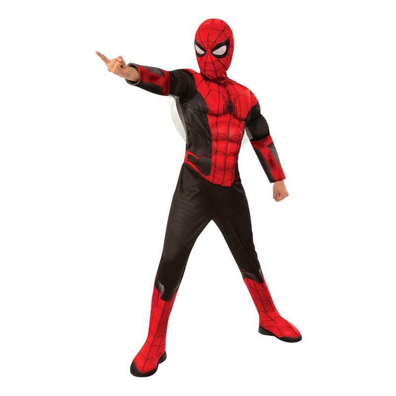 Spider-Man med Muskler Barn Deluxe Maskeraddräkt - Small