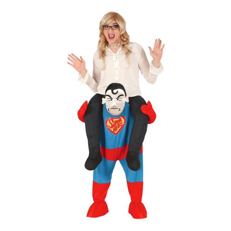 Ridande Superhjälte Maskeraddräkt - Large