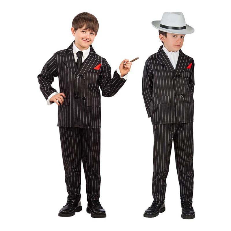 Italiensk Gangster Barn Maskeraddräkt - Large