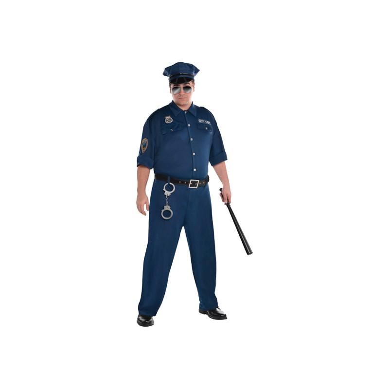 Polis Plus-size Maskeraddräkt - X-Large