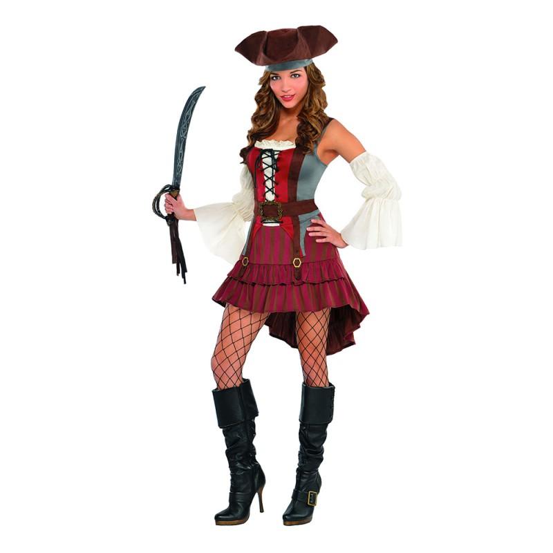 Pirat Klänning Maskeraddräkt - X-Large