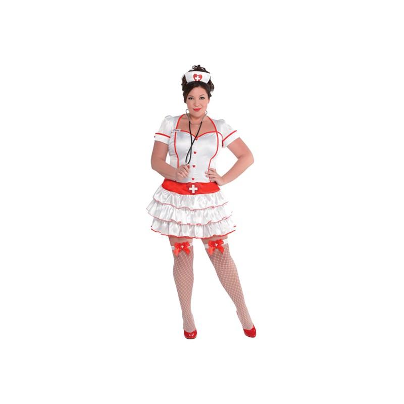Sjuksköterska Plus-size Maskeraddräkt - X-Large