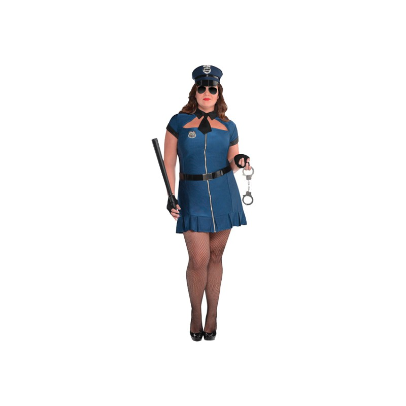 Kvinnlig Polis Plus-size Maskeraddräkt - Plus size