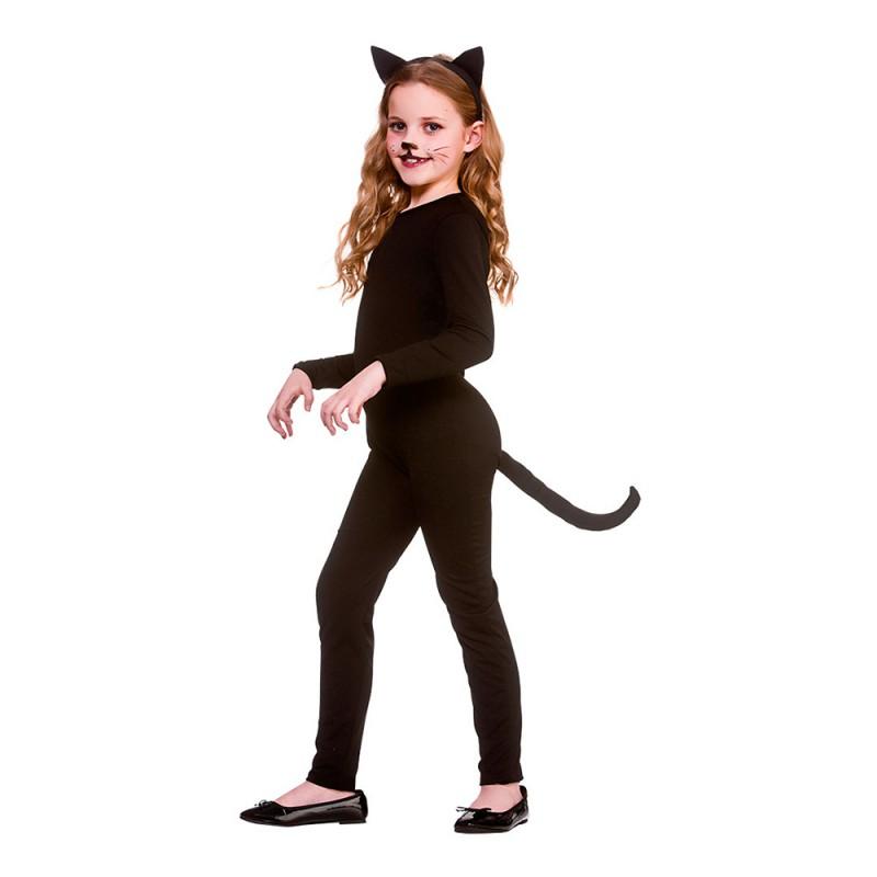 Katt Svart Barn Maskeraddräkt - Small
