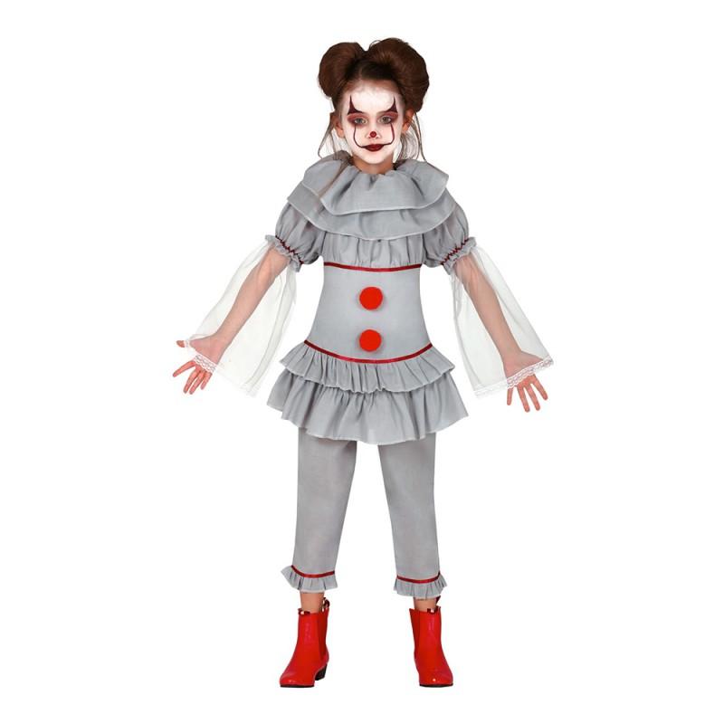 Skräckfilmsclown Barn Maskeraddräkt - 5-6 år