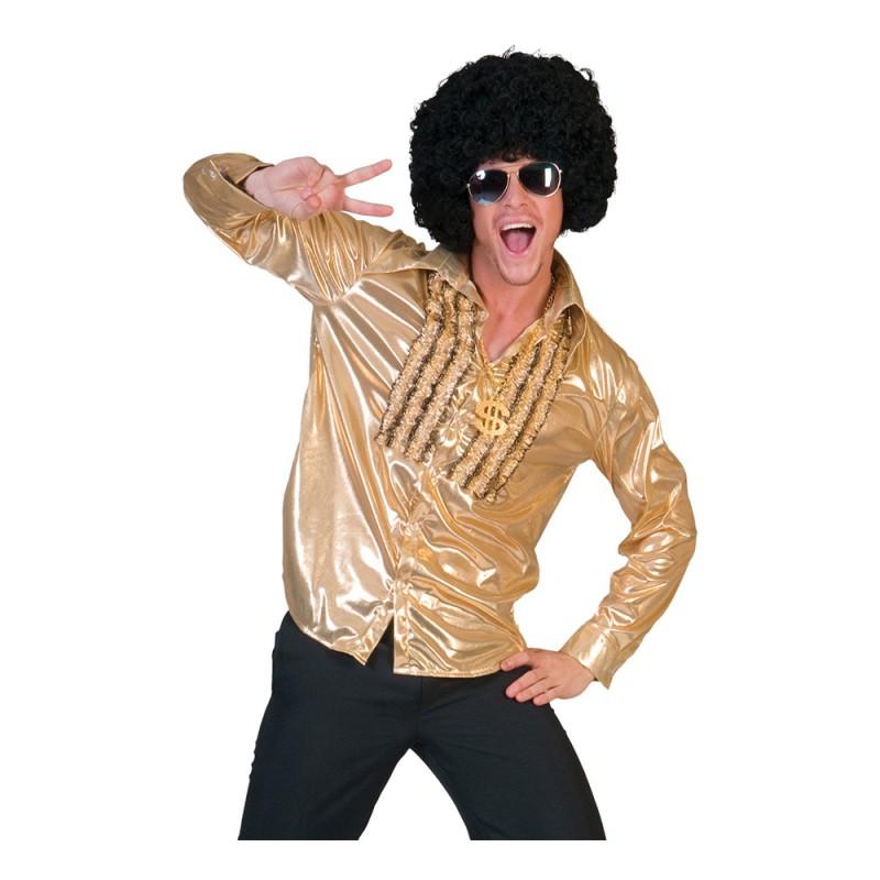 Discoskjorta Herr Guld - Small