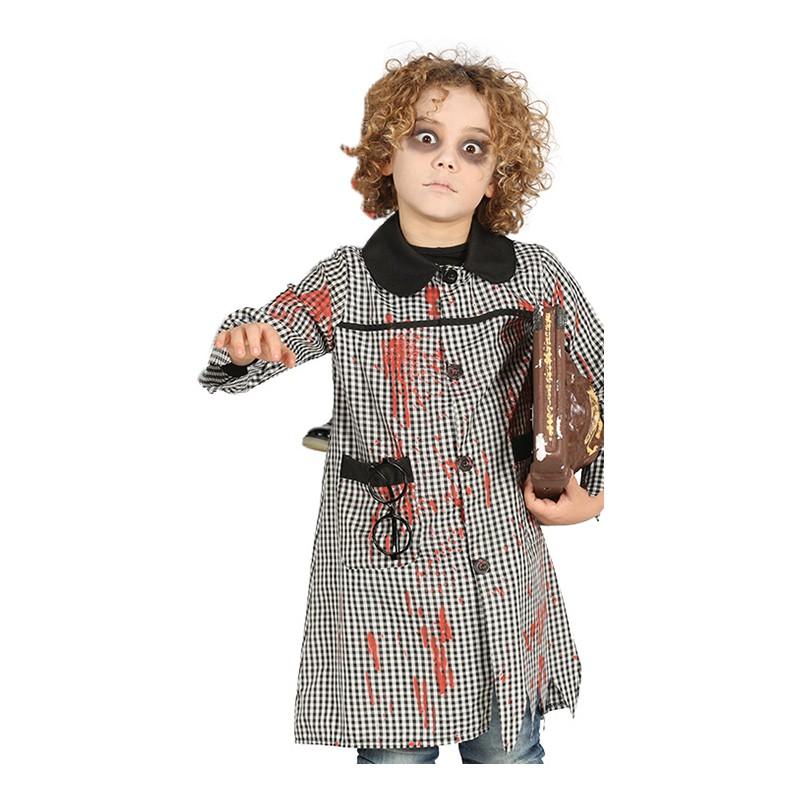 Zombie Skolflicka Barn Maskeraddräkt - Medium