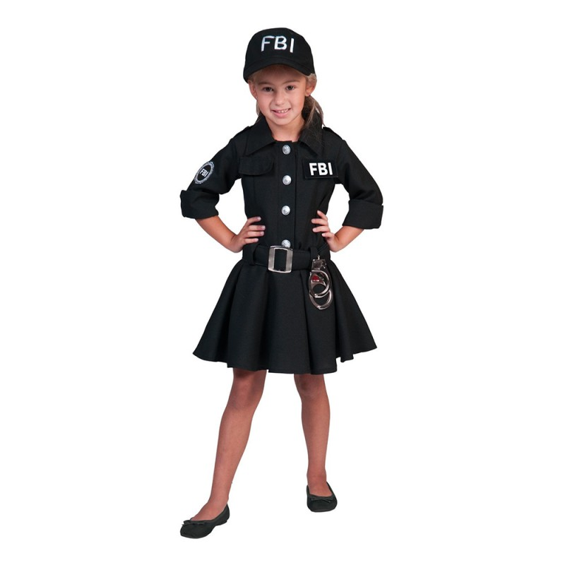 FBI Agent Flicka Maskeraddräkt - Small