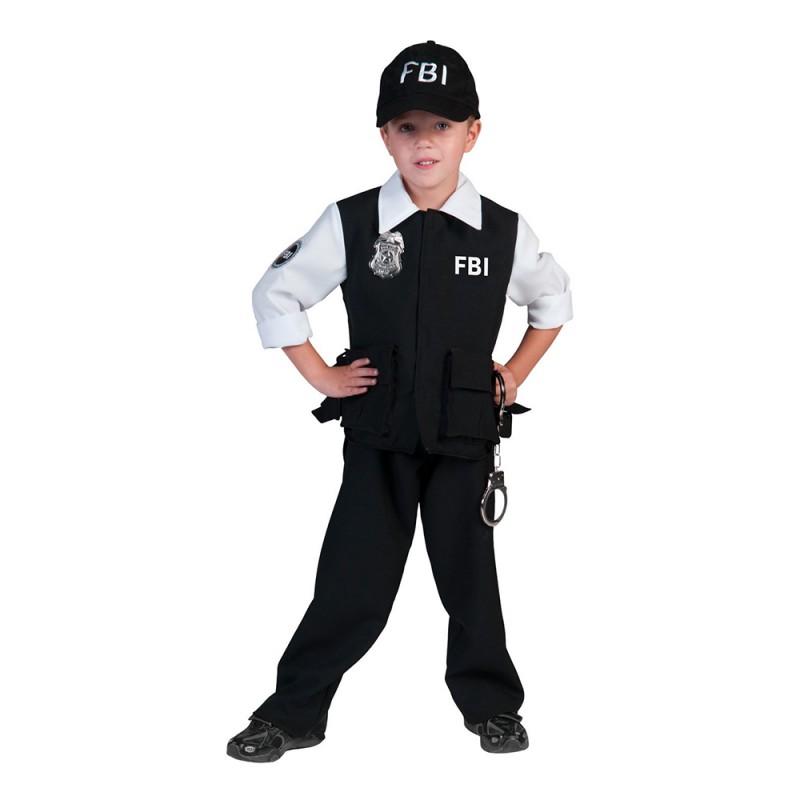 FBI Agent Pojke Maskeraddräkt - Small