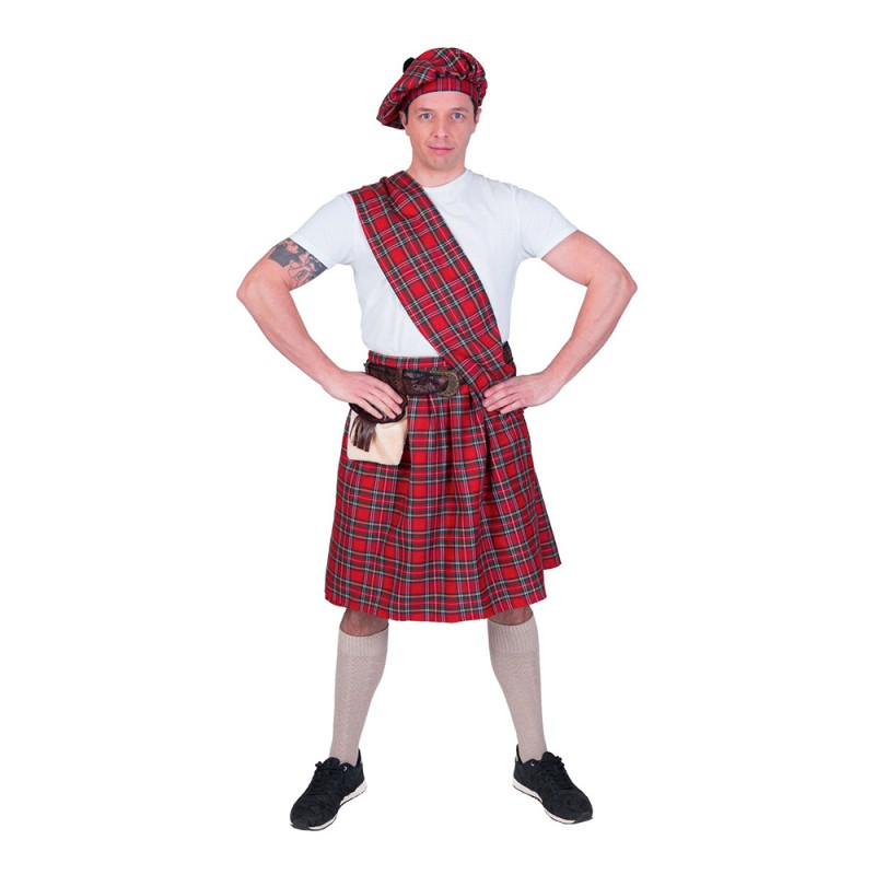 Highlander Röd Maskeraddräkt - One size