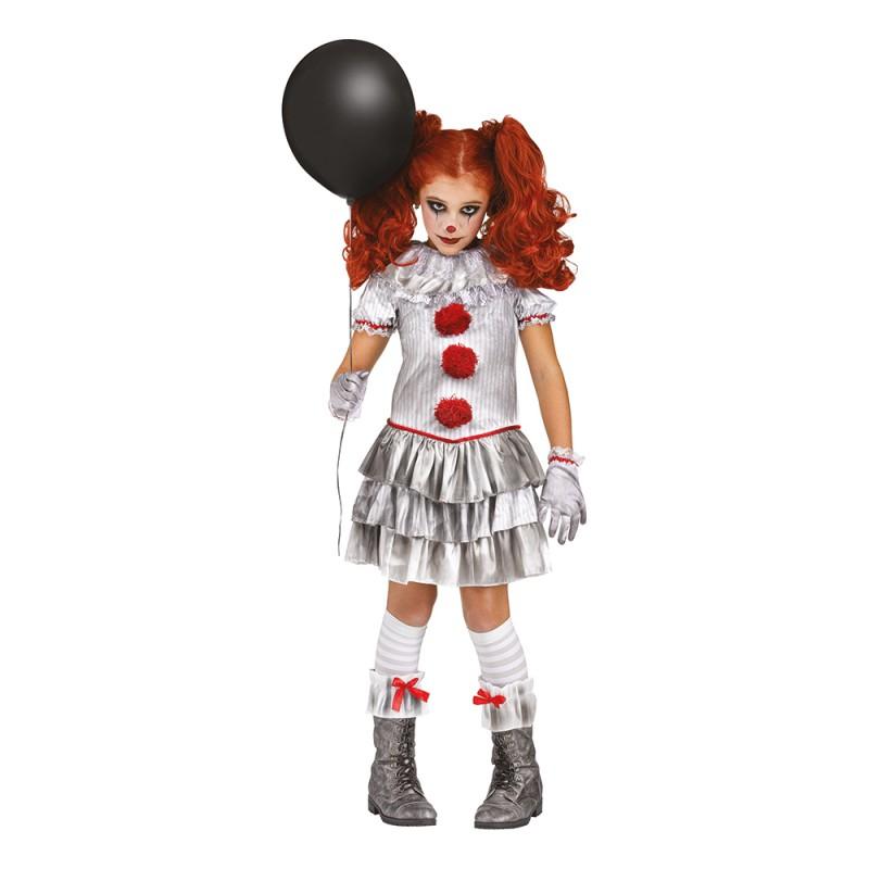 Carnevil Killer Clown Flicka Maskeraddräkt - Medium