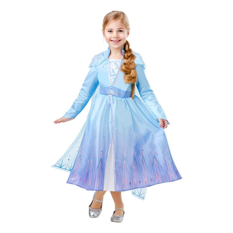 Frozen 2 Elsa Deluxe Barn Maskeraddräkt - Small