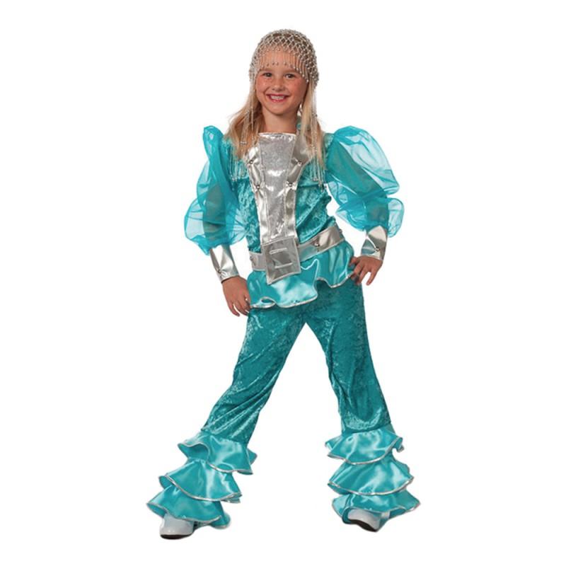 Mamma Mia Blå Barn Maskeraddräkt - 5-6 år