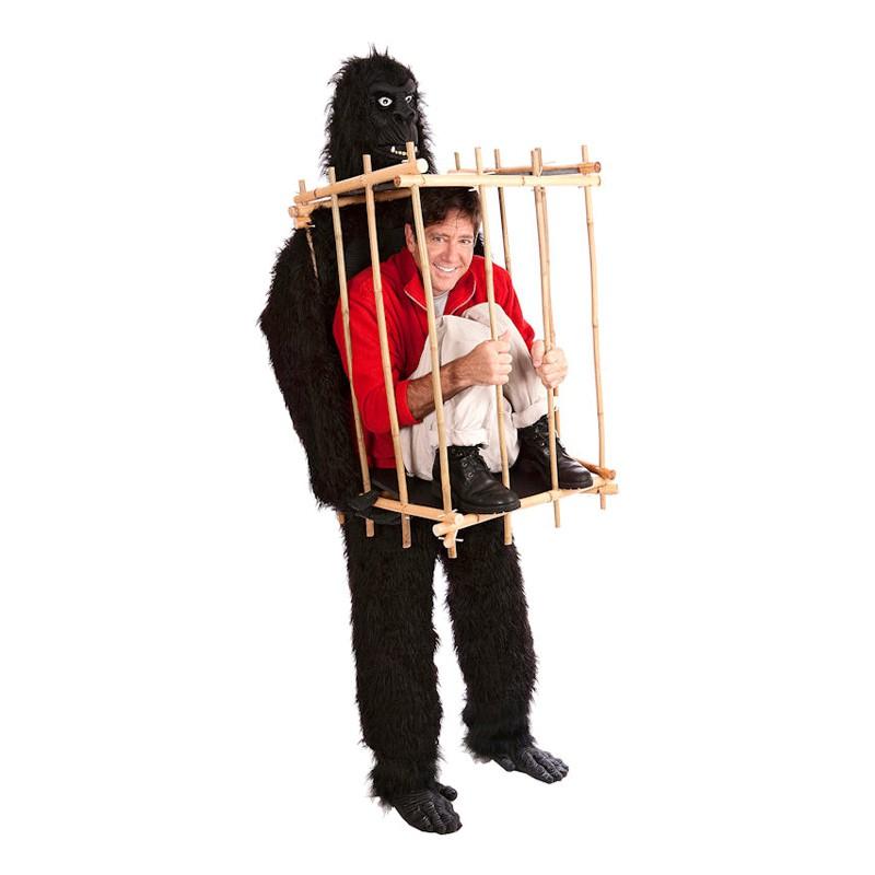 Gorilla med Bur Maskeraddräkt - One size