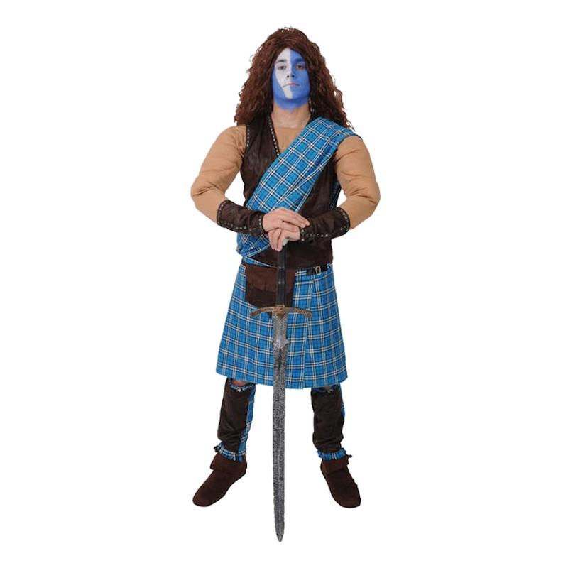 Skotsk Krigare Maskeraddräkt - Standard