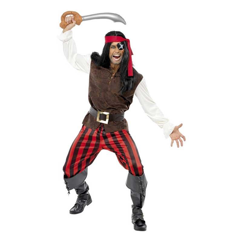 Pirat Skeppskamrat Maskeraddräkt - Medium