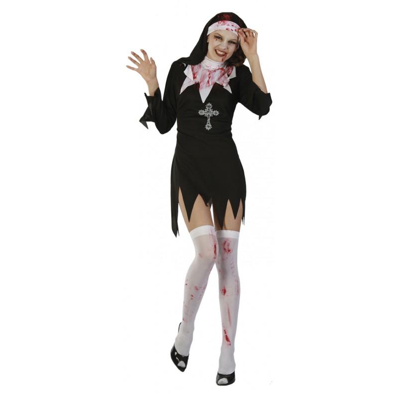 Blodig Nunna Maskeraddräkt