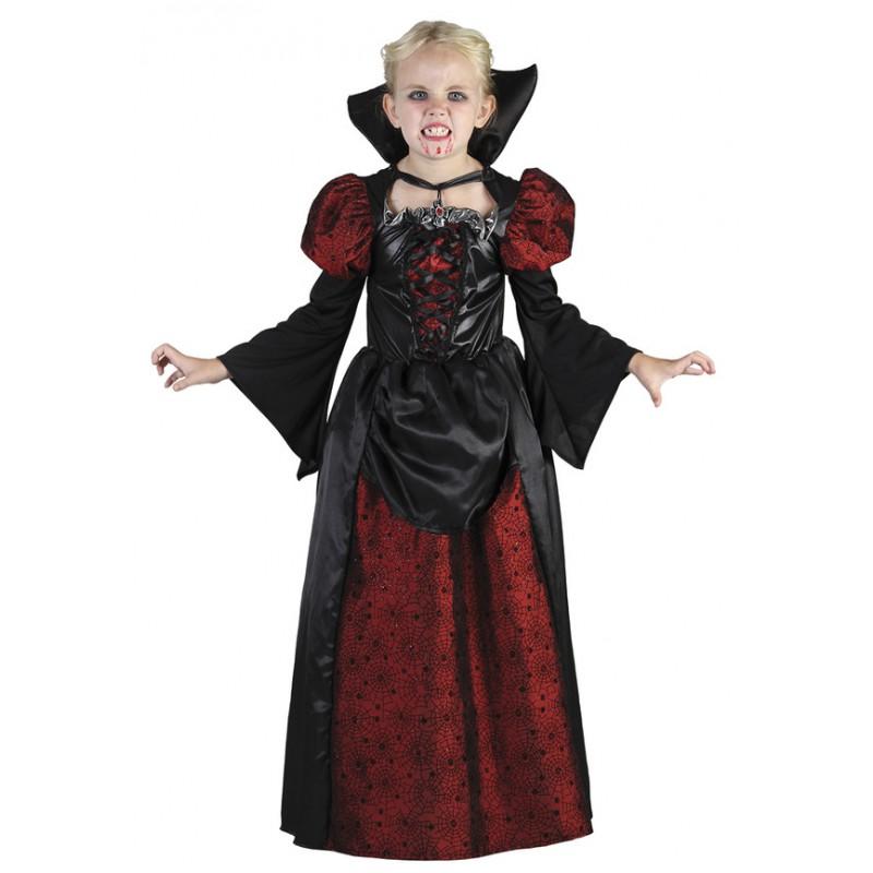 Vampyrtjej Barn Maskeraddräkt