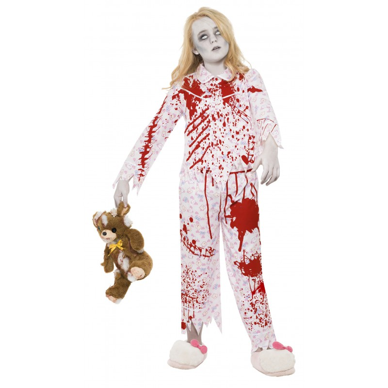 Zombieflicka I Pyjamas Maskeraddräkt Barn
